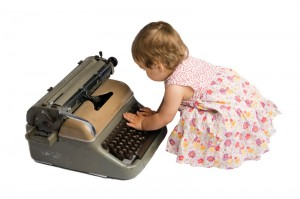 baby typing